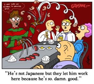 Freddy Krueger Japanese Steak House Cartoon
