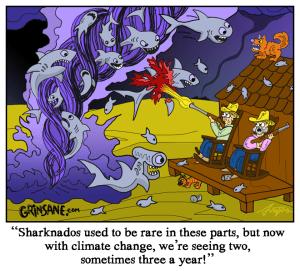 Sharknado Alley Cartoon