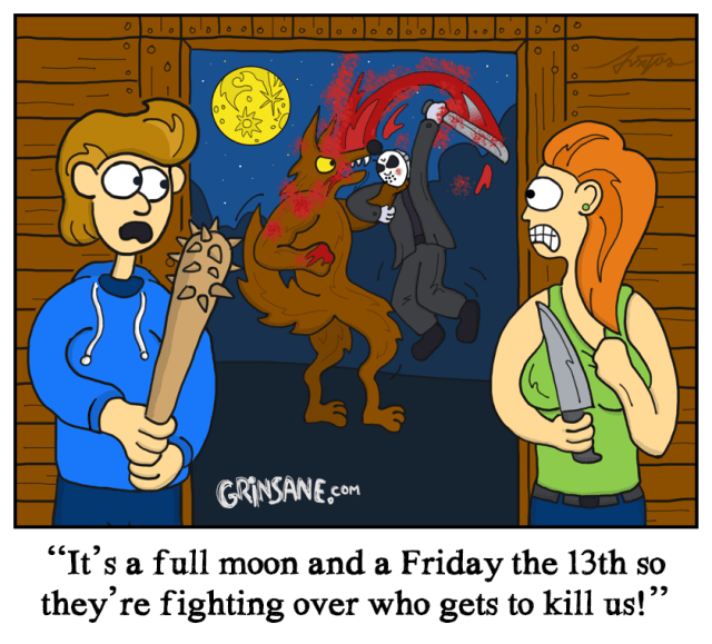 Jason Voorhees vs Werewolf Cartoon