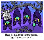 Coronavirus Bat Cartoon
