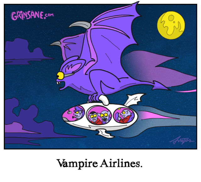 Vampire Airlines Cartoon