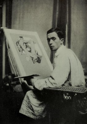 J.C. Leyendecker in His Studio