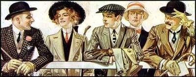 Illustration for Arrow Collar by J.C. Leyendecker, 1907