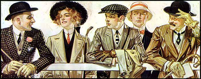 Illustration for Arrow Collar by J.C. Leyendecker, 1907