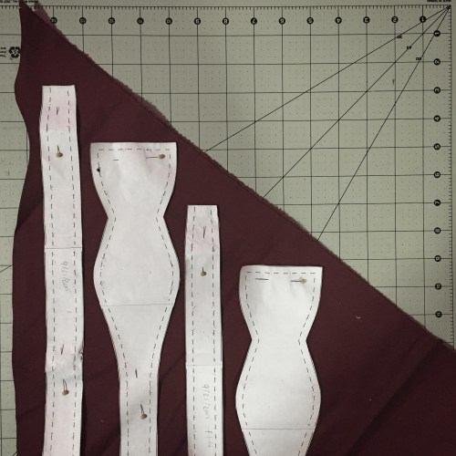 Photo of Hand-made Bow Ties in Progress