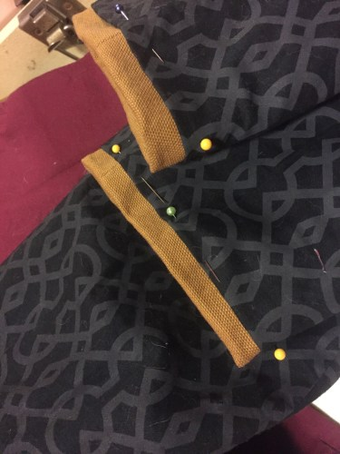 Photo of Steampunk Kilt Jacket - Sewing lining to cuffs