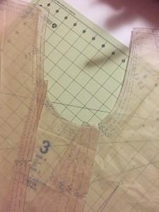 Photo of Vogue 8719 Arm Scye pattern pieces