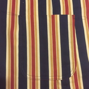 Photo of Vogue 8719 - Patch pocket matched to prominent stripe