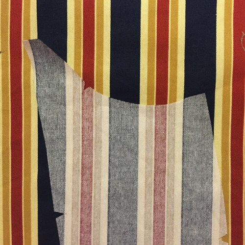 Photo of Vogue 8719 - Side PIece Flipped for Easy Stripe Matching