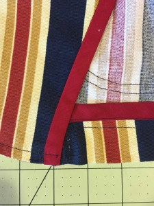 Finished bottom hem and facing, slipstitched together