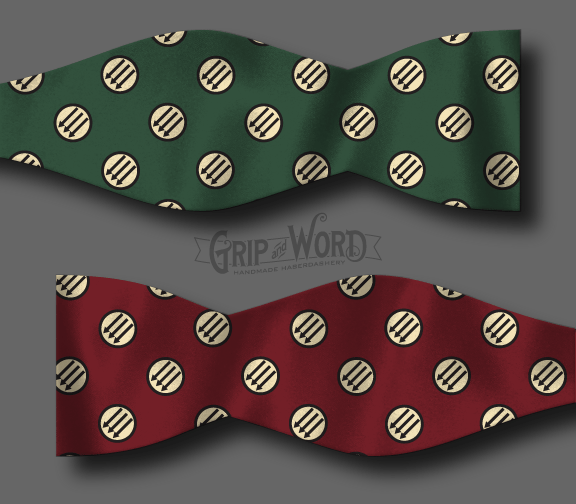 Green and Red Anti-fascist bow tie mockup