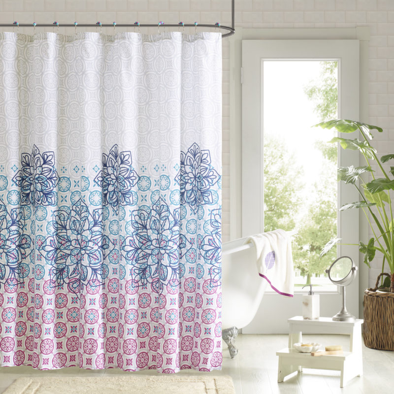 curved shower curtain rod ideas