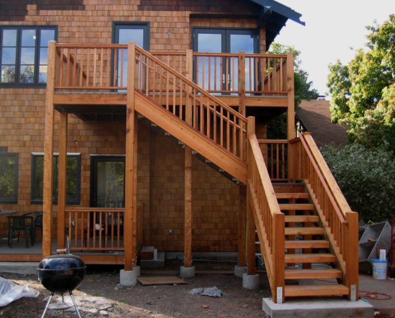exterior wood stairs
