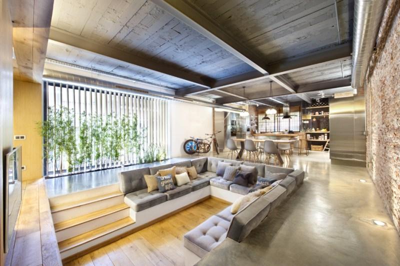 sunken living room floor plans