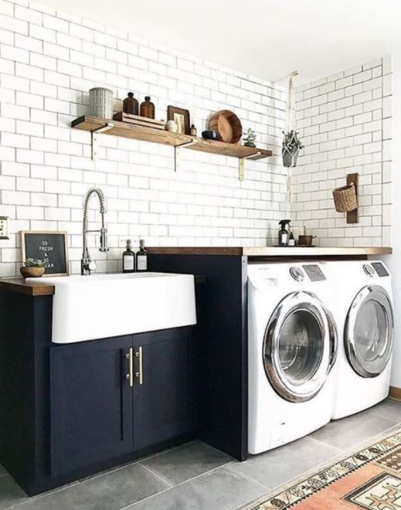 Kitchen Laundry Room Design: 37 Unique And Cool Basement Laundry Room Ideas, Remodel