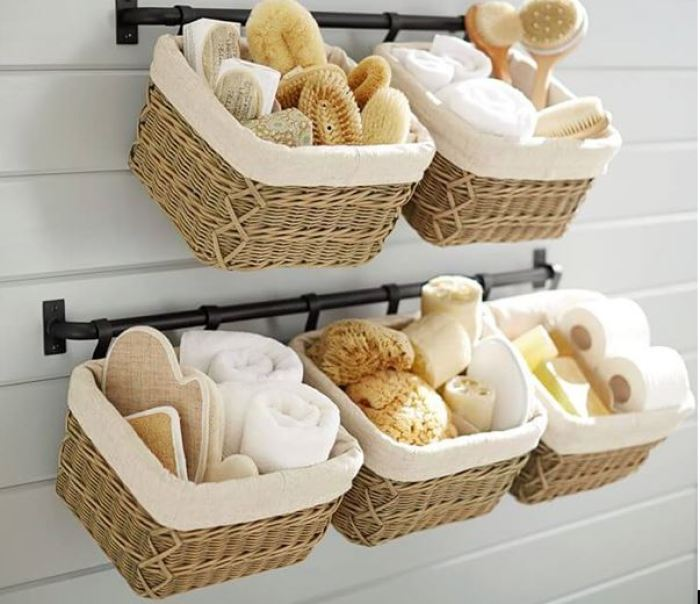 Using the baskets for storage