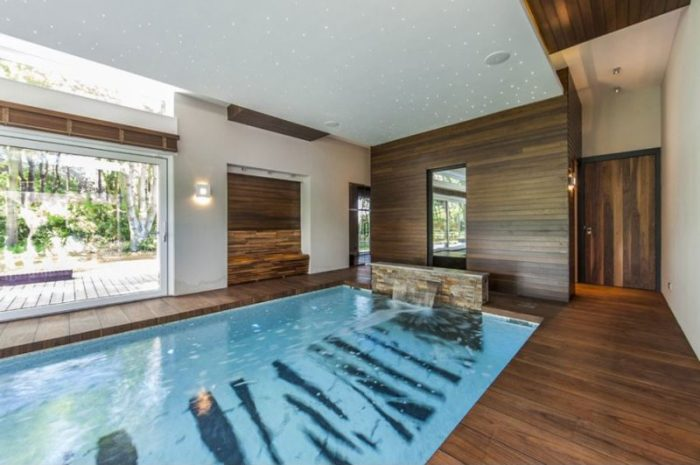 waterfall swimming pool