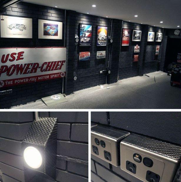 garage interior wall ideas