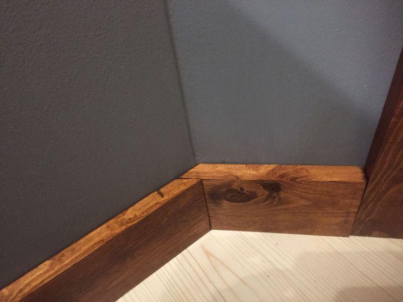 Rustic Wood Baseboard
