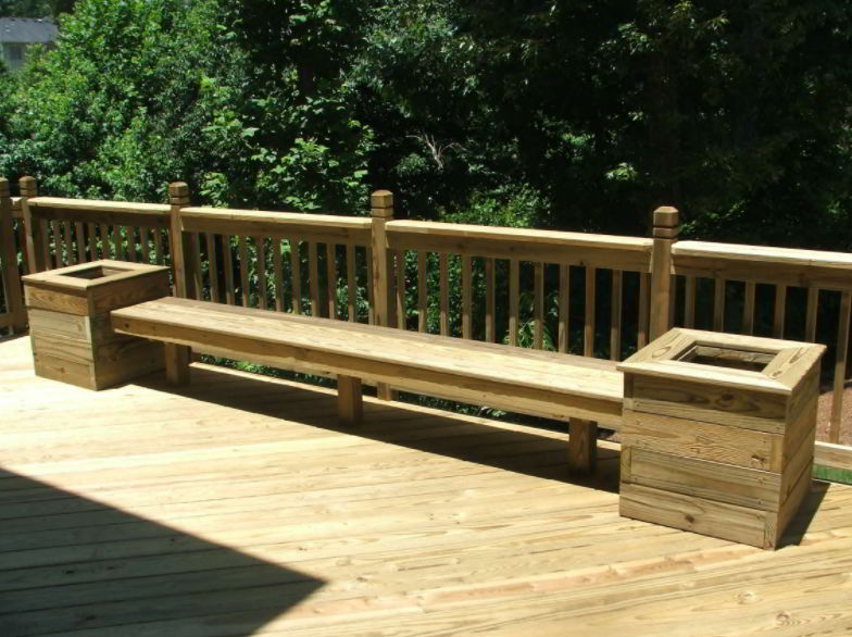 Best Deck Bench with Planter