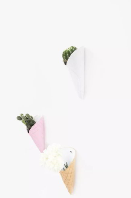 DIY Ice Cream Cone Wall