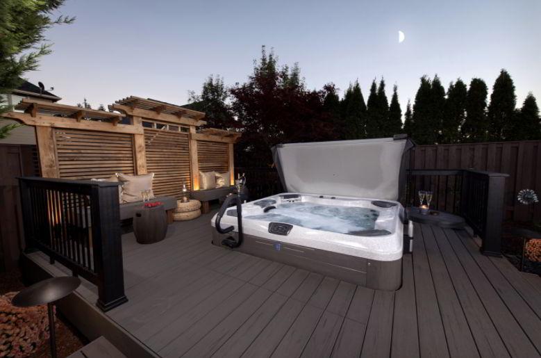 Masculine Hot Tub Deck Ideas