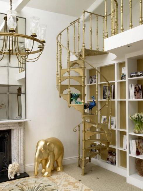 Modern Loft Spiral Staircase