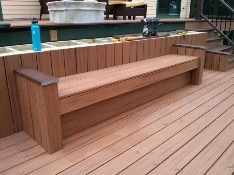 Bench with Multi-Level Deck