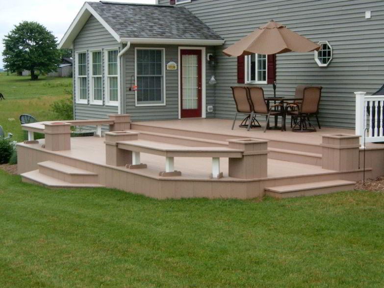 Pale Corner Deck Bench