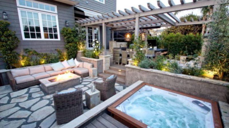 Outdoor Escape with a Hot Tub Deck