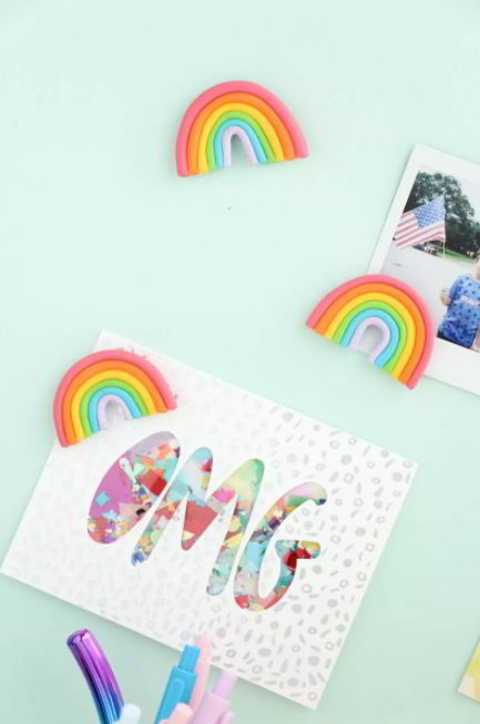 DIY Rainbow Magnets