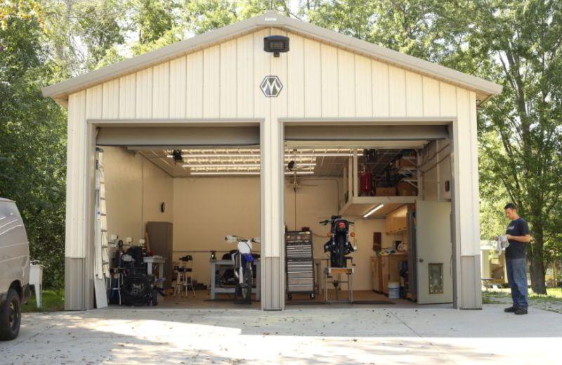 Separated Motorcycle Garage