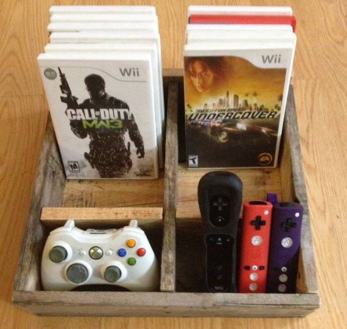 video gaming controller storage ideas