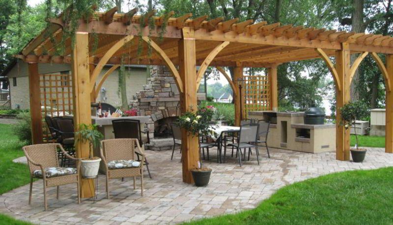 Elegant grill patio image