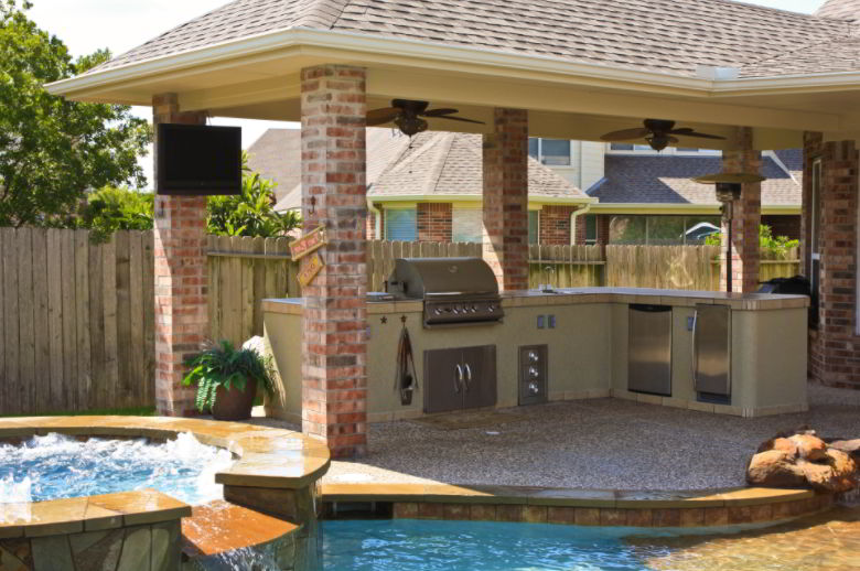 Luxury Patio Grill Picture
