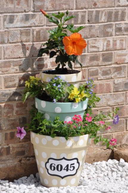 Stacked Flower Pot Design