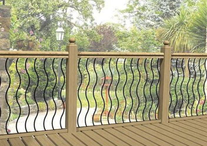 Wave Pattern Handrail Design Ideas