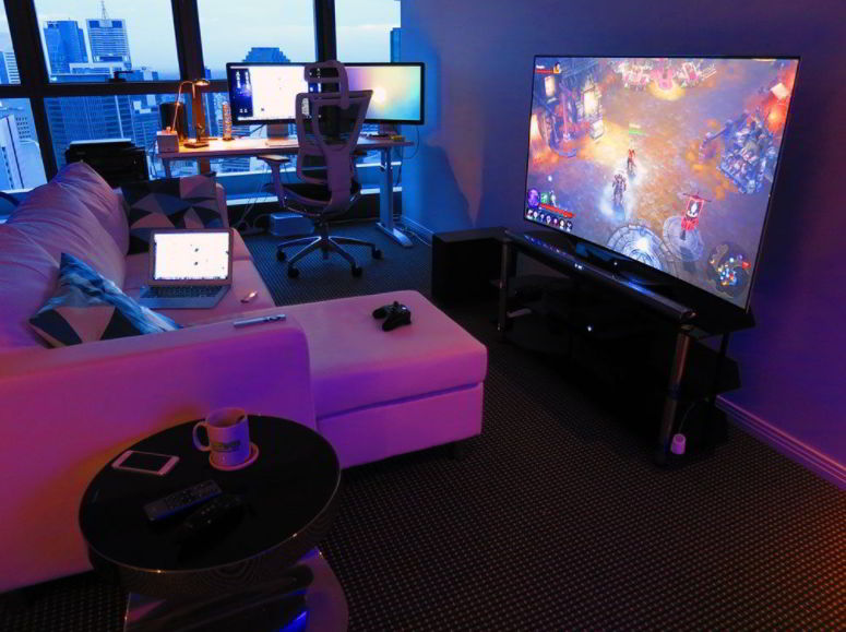 Well-Lighted Gaming Nook