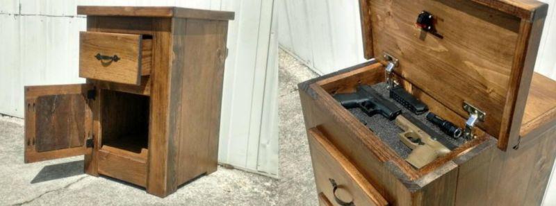 Gun Compartment Vintage Nightstand