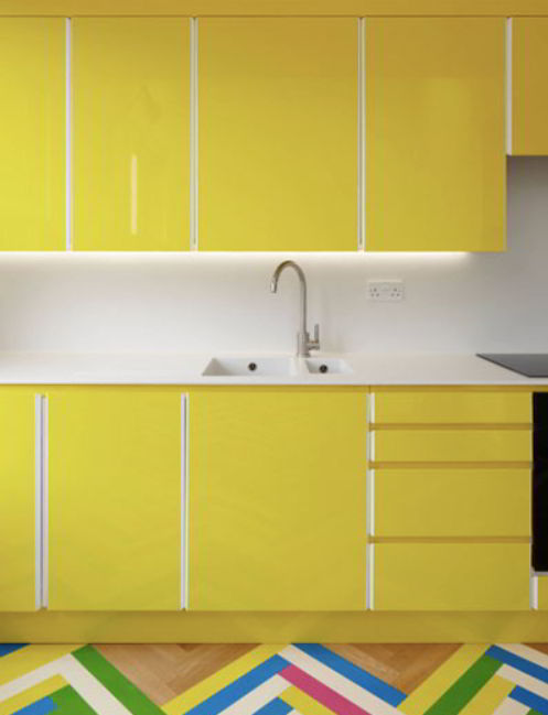 modern oak kitchen cabinet
