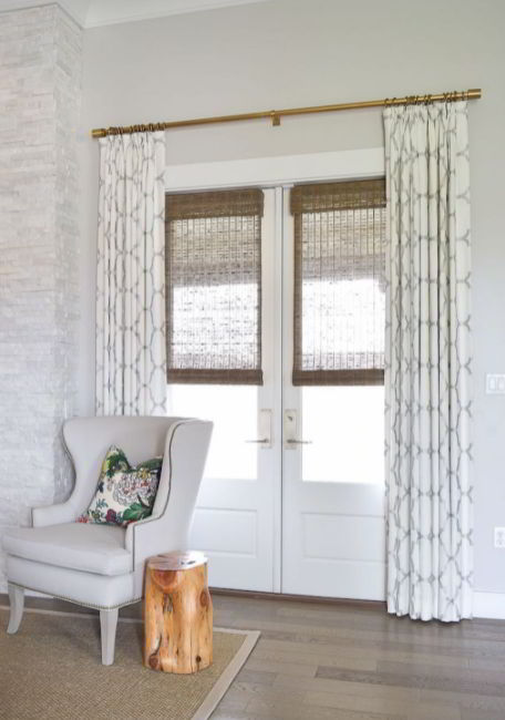 Curtains and Roman Shades for Door Window