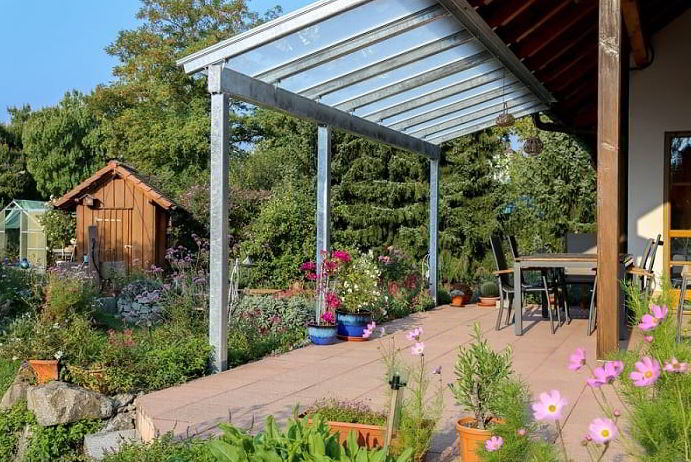 glass patio awning ideas