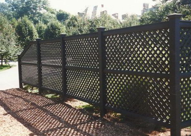 Elegant Black Fence
