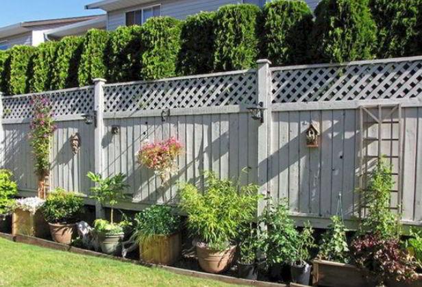 Light Grey Fence Ideas