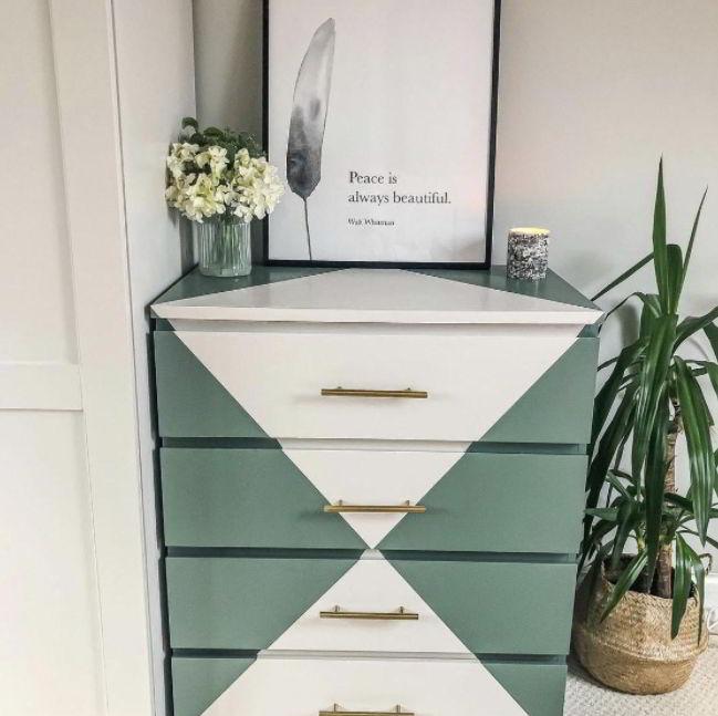 Green and White Ikea Hacks