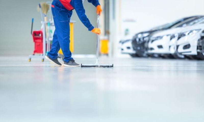 epoxy floor cleaning machine