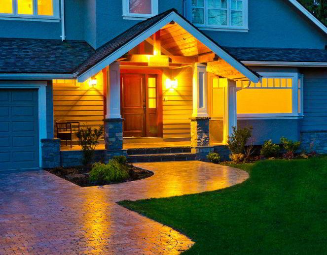 Orange porch light meaning