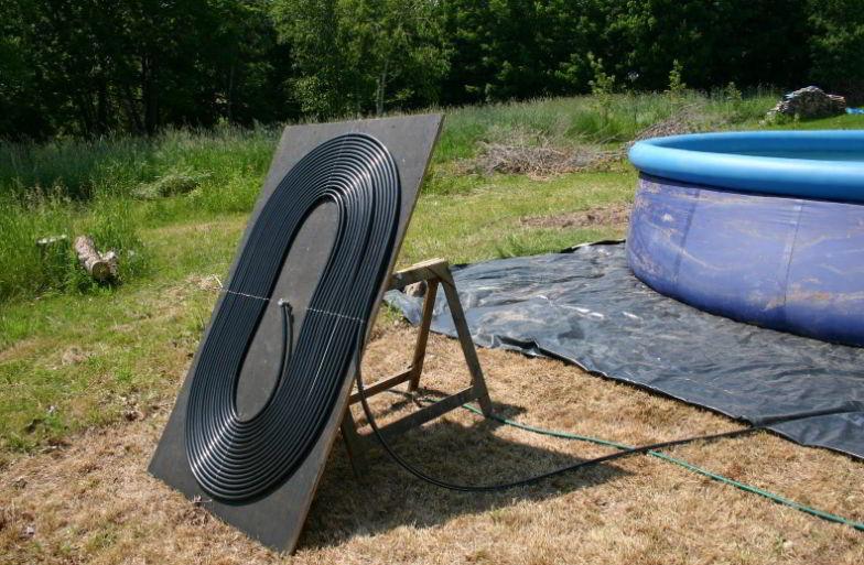 Mount the solar heater
