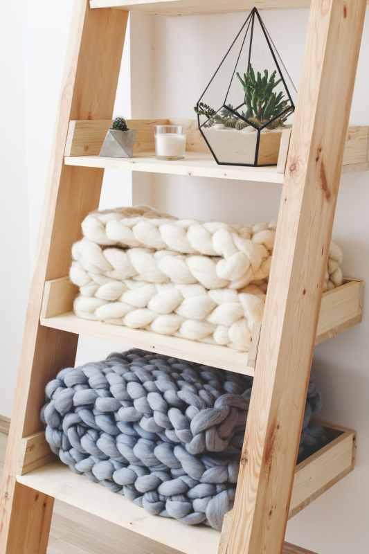 Wooden Ladder Storage