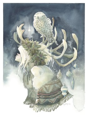 WINTER SOLSTICE snow queen witch princess christmas gris grimly